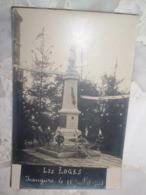 CARTE PHOTO LES LOGES 52 HAUTE MARNE MONUMENT AUX MORTS 14 JUILLET 1921, Signé Au Dos Par Le Maire, Statue Jeanne D'Arc - Other Municipalities