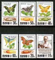 Korea 1991 Corea / Butterflies MNH Mariposas Papillons Schmetterlinge / Cu13019  34-24 - Mariposas