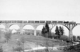StLB-Feistritztalbahn Mit VL15+S7 Mit Zug WR 58 Auf Dem Grub-Viadukt, Ungelaufen - Trains