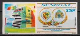 Sénégal - 1982 - N°Yv. 573 à 574 - Sénégambie - Non Dentelé / Imperf. - Neuf Luxe ** / MNH / Postfrisch - Senegal (1960-...)