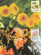 Chine Malaisie 2002 MC Emission Commune Fleurs Carte Maximum China Malaysia Rare Flowers Joint Issue Maximum Card - Gemeinschaftsausgaben