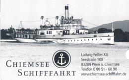 BRD Prien Am Chiemsee 2019 Chiemseeschifffahrt Historischer Dampfer Parkentgelt - Schiffstickets