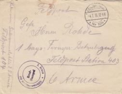 FELDPOSTSTATION N° 104. 4 6 16. GÜTERSAMMELSTELLE DER 5° ARMEE     /  2 - Allemagne
