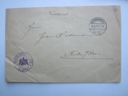 1915 , ORTSKOMMANDANTUR   CHAMBLEY   , Lettre Militaire Allemagne - Storia Postale