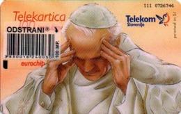 Slovenia, Slovenija, Slowenien, Telekom Slovenije - TS251. Very Rare Phonecard - Pope. Only 982 Pieces Issued. - Slowenien