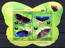 China 2011 Taiwan / Butterflies MNH Mariposas Papillons Schmetterlinge / Cu3012  5-8 - Mariposas