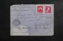 BELGIQUE - Enveloppe 1er Vol Belgique / Pays Bas Par Hélicoptère En 1947, Cachets Plaisants - L 46318 - Cartas
