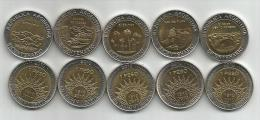 Argentina National Parks 1810-2010. Set Of  5 Bimetallic Coins UNC BICENTENARIO - Argentinië
