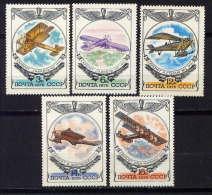 RUSSIE - N° 4308/4312** - HISTOIRE DE L'AVIATION RUSSE - Unused Stamps