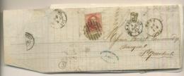 Envoyée à St Quentin.   Facture. Avril 1861.  Ø BELG A QUIEVRAIN. 12 Avec Voisins - 1858-1862 Medallions (9/12)