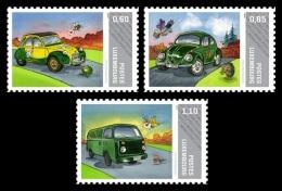 Luxembourg (Meng Post) 2011 No. 9/11 Postal Cars. Citroën 2CV. Beetle. VW T2 Bulli MNH ** - Luxemburg