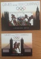 Papua New Guinea-2012 London Olympics 2 Minisheets MNH - Papua New Guinea