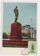 CARTE MAXIMUM CM Card USSR RUSSIA Sculpture Monument Writer Maxim Gorky Moscow Railway Station Moscow - 1923-1991 URSS