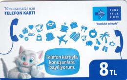 TURKEY - Mutluluk Evinizde ,Aralık 2016, Incard - IN4 ,8₤ Turkish Lira ,05/14 , Used - Turchia