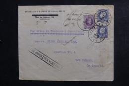 BELGIQUE - Enveloppe Commerciale De Bruxelles Pour Las Palmas En 1925 Par Avion ( Ligne Française) - L 46328 - Covers & Documents
