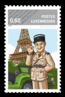 Luxembourg (Meng Post) 2014 No. 59 Cinema. Louis De Funès. Eiffel Tower. Automobile MNH ** - Luxembourg