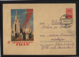 RUSSIA USSR Stamped Stationery Used 59-005 May Day SILUTE Cancellation LITHUANIA - 1923-1991 UdSSR