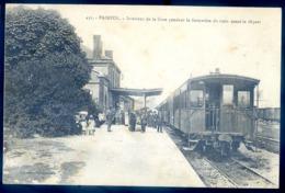 Cpa Du 22  Paimpol Intérieur De La Gare Pendant La Formation Du Train LZ84 - Paimpol