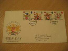 CHESTERFIELD DERBYSHIRE 1984 College Of Heralds Coat Of Arms Heraldry FDC Cancel Cover ENGLAND - Briefe U. Dokumente