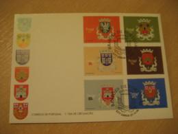 LISBOA 1996 Brasoes Coat Of Arms Heraldry FDC Cancel Cover PORTUGAL - Briefe U. Dokumente
