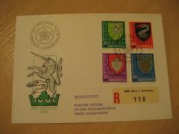 BERN 1979 Pro Juventute Coat Of Arms Heraldry Cancel Registered Cover PORTUGAL - Briefe U. Dokumente