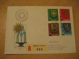BERN 1980 Pro Juventute Coat Of Arms Heraldry Cancel Registered Cover PORTUGAL - Briefe U. Dokumente