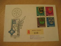 BERN 1978 Pro Juventute Coat Of Arms Heraldry Cancel Registered Cover PORTUGAL - Briefe U. Dokumente