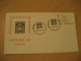 MADRID 1980 Exfilma Coat Of Arms Heraldry Cancel Cover SPAIN - Briefe U. Dokumente