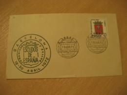 MADRID 1972 Exposicion Escudos Coat Of Arms Heraldry Stamp Cancel Cover SPAIN - Briefe U. Dokumente