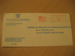 IRWIN 1979 Photo Photogrammetry Flag Flags Meter Mail Cancel Cover USA - Briefe