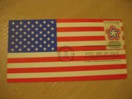 WASHINGTON 1971 American Revolution Bicentennial Flag Flags Maxi Maximum Card USA - Briefe