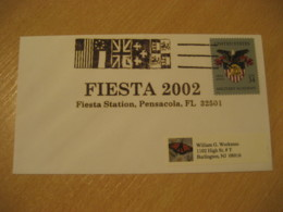 PENSACOLA 2002 Fiesta Flag Flags Cancel Cover USA - Briefe