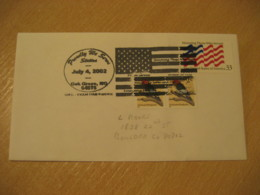 OAK GROVE 2002 Police Emergency Medical ... Flag Flags Cancel Cover USA - Omslagen