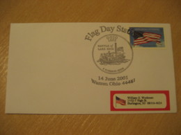 WARREN 2001 Battle Of Lake Erie Flag Flags Cancel Cover USA - Omslagen