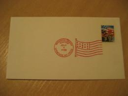 SYRACUSE 1998 Onondaga Flag Flags Cancel Cover USA - Omslagen