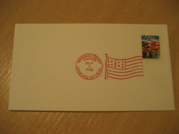 SYRACUSE 1998 Onondaga Flag Flags Cancel Cover USA - Briefe