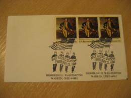 WARREN 1999 George Washington Flag Flags Cancel Cover USA - Briefe