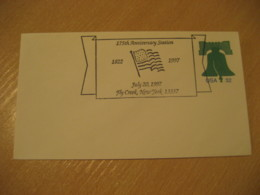 FLY CREEK 1997 Flag Flags Cancel Cover USA - Briefe