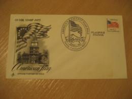 DORRIS 1996 Flag Pole Flags Cancel Cover USA - Briefe