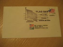 BANGOR 1993 Day Flag Flags Cancel Cover USA - Enveloppes