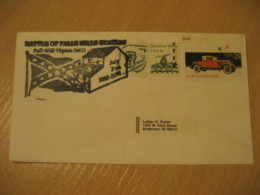 FALLS MILLS 1991 Battle Flag Flags Cancel Cover USA - Briefe