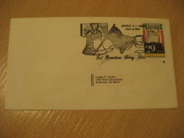BATSTO 1991 Ring Bell Flag Flags Cancel Cover USA - Briefe