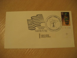 LE CENTER 1990 Tree Flag Flags Cancel Cover USA - Briefe