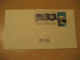 OLYMPIA 1989 Washington Flag Flags Cancel Cover USA - Briefe