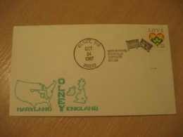 OLNEY 1987 Maryland England Good Shepherd Flag Flags Cancel Cover USA - Enveloppes