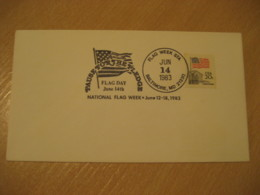 BALTIMORE 1983 Pause For The Pledge Week Day Flag Flags Cancel Cover USA - Buste