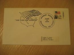 BALTIMORE 1982 Harbor Flag Flags Cancel Cover USA - Briefe