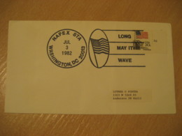 WASHINGTON 1982 Long Way It Wave Flag Flags Cancel Cover USA - Buste