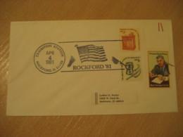 ROCKFORD 1981 Flag Flags Cancel Cover USA - Buste