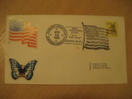 SANDUSKY 1980 Flag Flags Cancel Cover USA - Briefe